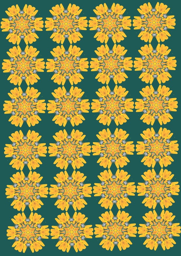yellow green print